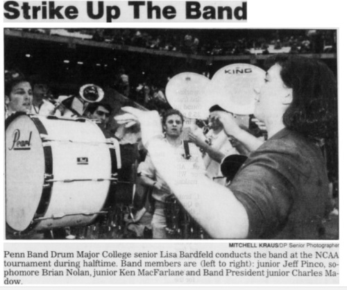 DP senior photographer Penn Band NCAA tournament 1993