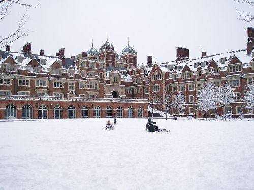 Lower Quad at Penn in the snow
