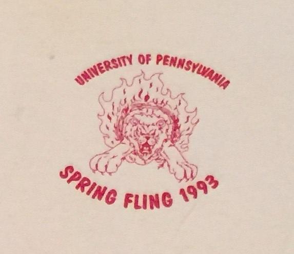 Penn Spring Fling t-shirt 1993