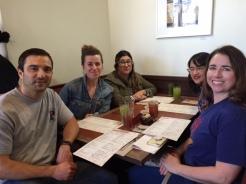 Penn Serves LA volunteers ready for lunch at HomeGirl Cafe
