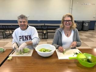 Penn Serves LA volunteers help prepare dinner